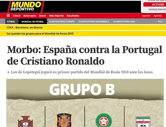 Bốc thăm World Cup: Báo Tây Ban Nha sợ Ronaldo, truyền thông Anh ngại Brazil 5