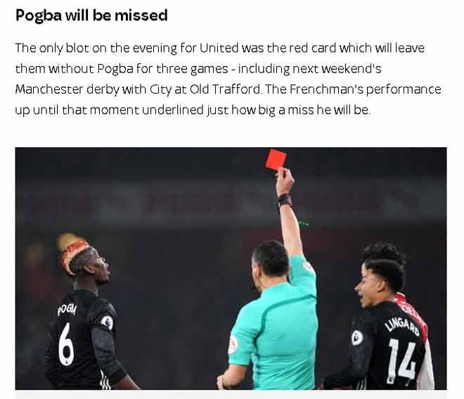 MU quật ngã Arsenal, báo Anh khen De Gea