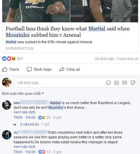 "MU rối bời: Martial chửi Mourinho, sẽ sớm bị ""thanh trừng"" 1"
