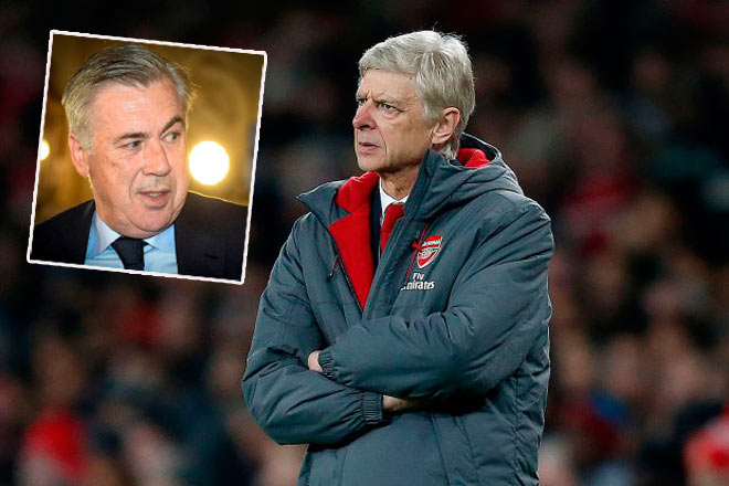 """Arsenal thua MU: """"Trảm"""" Wenger, dọn đường đón """"Vua cúp C1"""" Ancelotti?"""