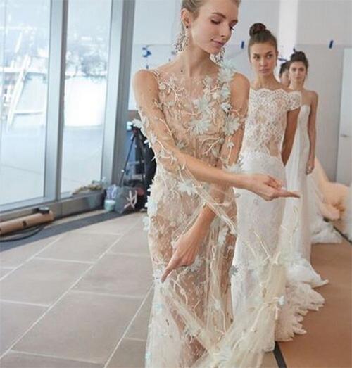 Nàng dâu diện váy cưới như cởi trần liệu có khiến quan khách giật mình? - 5