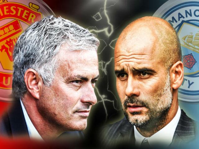 """MU – Man City đại chiến 650 triệu bảng: Pep """"súng 4 nòng"""", Mourinho đánh phủ đầu 4"""