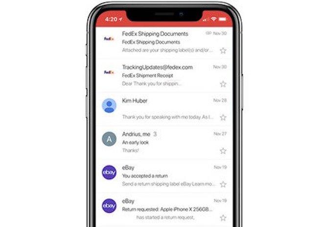 Gmail tung ra bản update cho iPhone X