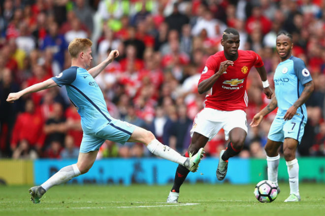 Man City thua thảm cúp C1: Pogba tuyên bố MU thắng derby 2