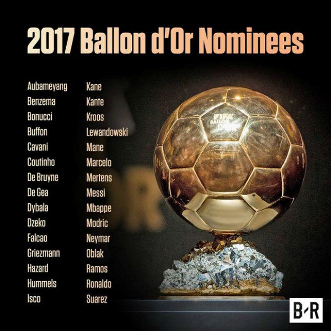 TRỰC TIẾP trao giải Quả bóng vàng 2017: Thế giới ủng hộ Ronaldo, Messi thờ ơ 3