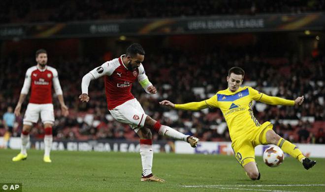 """Arsenal - BATE Borisov: """"Bắn phá"""" tưng bừng, xả hận thua MU 1"""
