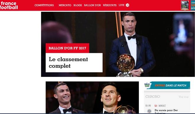 """Báo chí thế giới """"quỳ rạp"""" trước Ronaldo 5 Quả bóng Vàng"""
