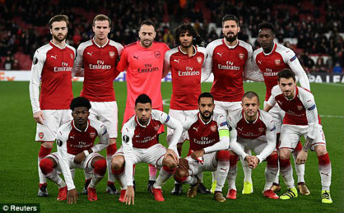 Chi tiết Arsenal - BATE Borisov: Giroud hụt cú đúp, Emirates vẫn tưng bừng (KT) 19