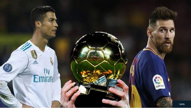 Điểm số bầu Quả bóng Vàng 2017: Ronaldo vượt trội Messi, gần gấp 3 Neymar - 1