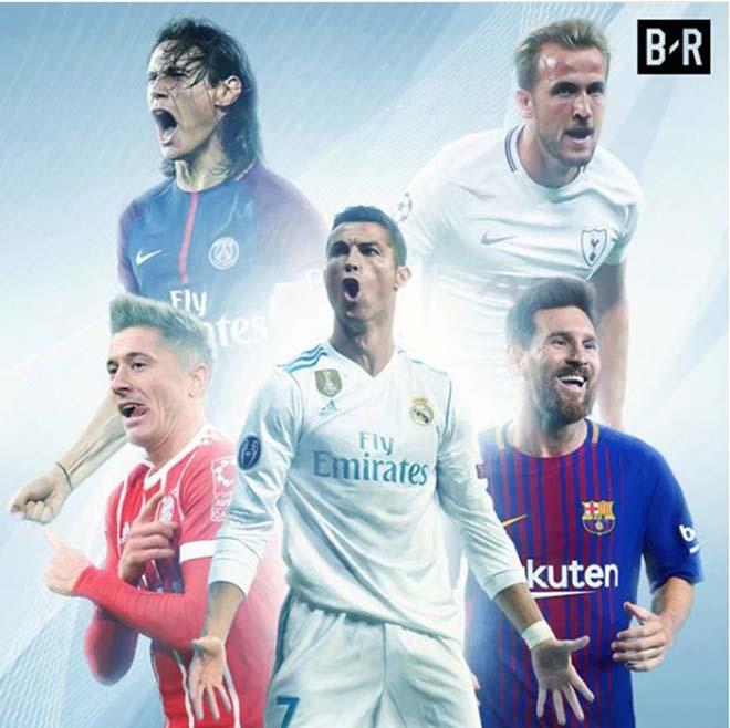 """""""Vua"""" châu Âu 2017: Harry Kane """"chung mâm"""" Messi, hạ bệ Ronaldo 2"""
