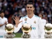 Ronaldo mừng bóng Vàng, ghi cú đúp  &  chạm mốc 50