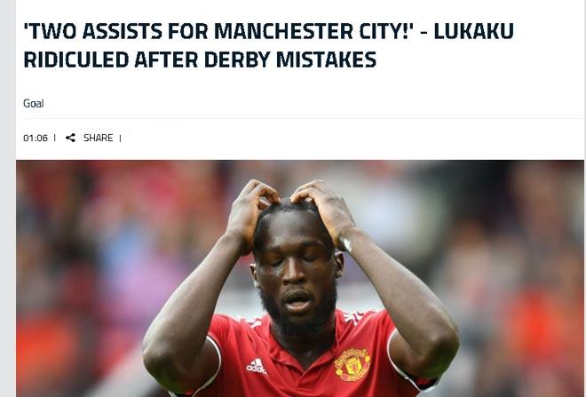 MU thua Man City: Báo giới ra sức chê bai Lukaku, fan giận dữ với Mourinho 1
