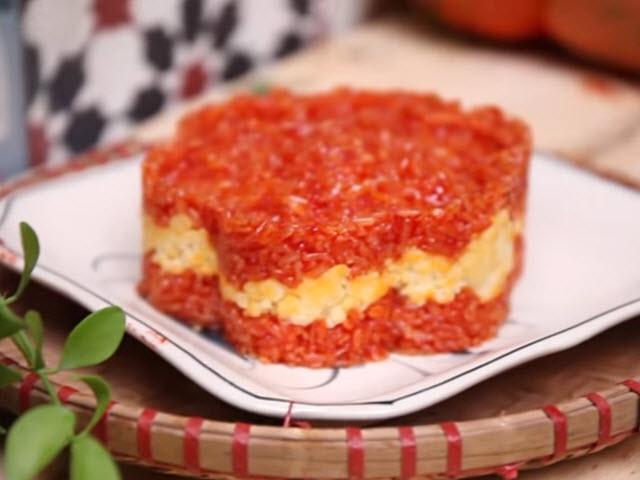 Mẹo nấu xôi gấc đỏ au, đều màu, dẻo thơm khó cưỡng
