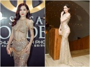 Thời trang - Hoa hậu Đại Dương hết môi tều, diện váy xuyên thấu đi xem thời trang