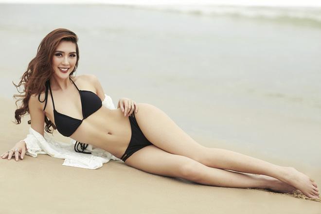 Eo chỉ 55cm, còn ai mặc bikini sexy hơn hoa hậu Việt này? - 2