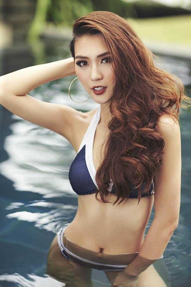 Eo chỉ 55cm, còn ai mặc bikini sexy hơn hoa hậu Việt này? - 8