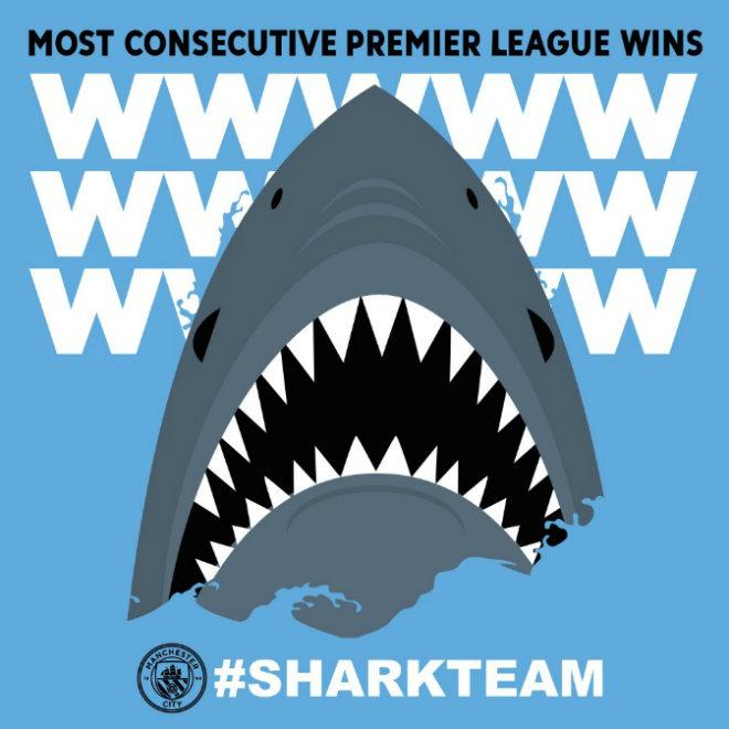 Man City thắng trận 15: Pep cưỡi cá mập, hủy diệt Ngoại hạng Anh 3