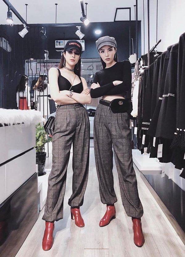 """Kỳ Duyên và """"bom sexy Việt"""" diện đồ đôi, ai cũng phải ngỡ ngàng"""