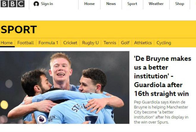 """Báo chí Anh thán phục Man City: 16 trận thắng hủy diệt, chế nhạo """"xe buýt"""" MU 3"""