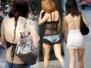 Thời trang - Con gái Trung Quốc vô tư diện đồ hớ hênh ra phố