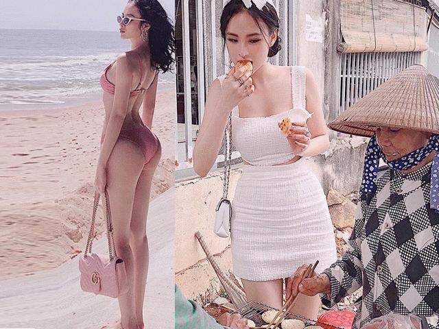 """Mặc sexy đi ăn vỉa hè, Angela Phương Trinh khiến dân tình """"mất tập trung"""""""