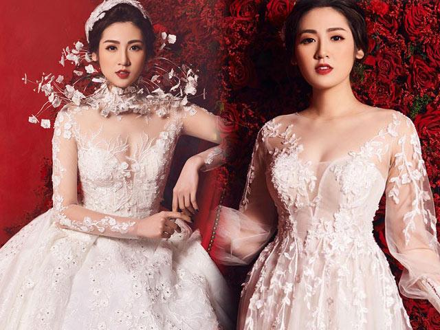 """""""Bạn gái Noo Phước Thịnh"""" mặc váy cưới 3 tỷ đồng"""