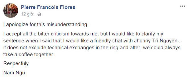 Nóng: Võ sư Flores quyết