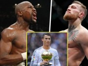 """Thể thao - VĐV """"điên đảo"""" thế giới ảo: Ronaldo, Mayweather """"xách dép"""" McGregor"""