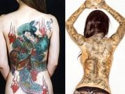 Làm đẹp - Giải mã hình xăm kỹ nữ nóng bỏng trên lưng trần mỹ nhân