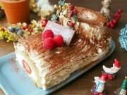 Ẩm thực - Cách làm bánh khúc cây đẹp mê ly đón Giáng sinh