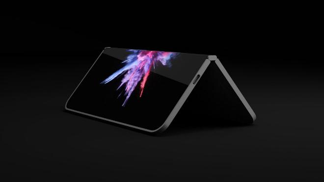 NÓNG: Xuất hiện điện thoại màn hình gấp như laptop - 1
