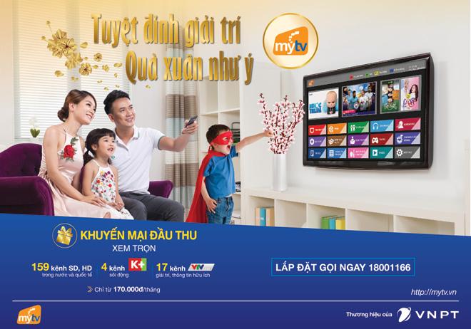 MyTV miễn phí đầu thu, tăng kênh K+ cho tất cả khách hàng