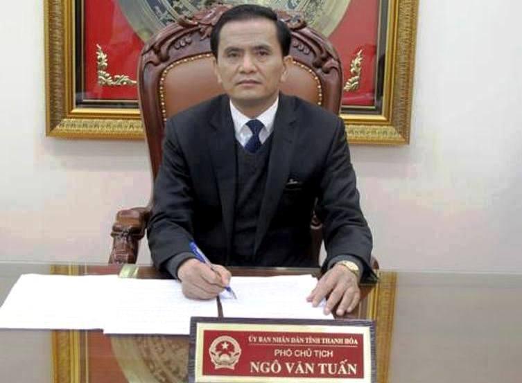 Phó chủ tịch Thanh Hóa Ngô Văn Tuấn vẫn làm việc bình thường