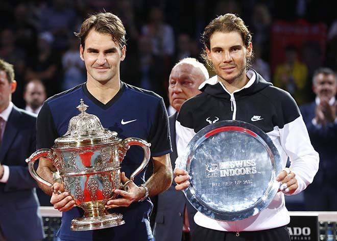 """Giao bóng sấm sét 2017: Nadal thua xa """"lão tướng"""" Federer, văng khỏi top 10"""