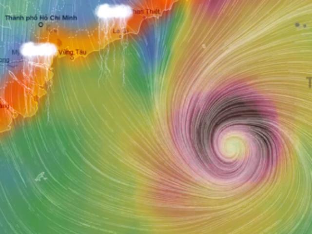 """Bản tin bão 21h30: Bão Tembin """"thần tốc"""" vào biển Đông, sóng cao chục mét - 2"""