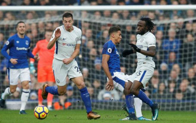 """Everton - Chelsea: """"Sư tử"""" kiệt sức, """"xe buýt"""" hảo hạng"""