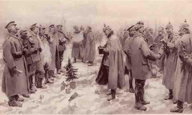 Phép màu khiến quân Anh và Đức đang bắn nhau quay ra bắt tay, đá bóng