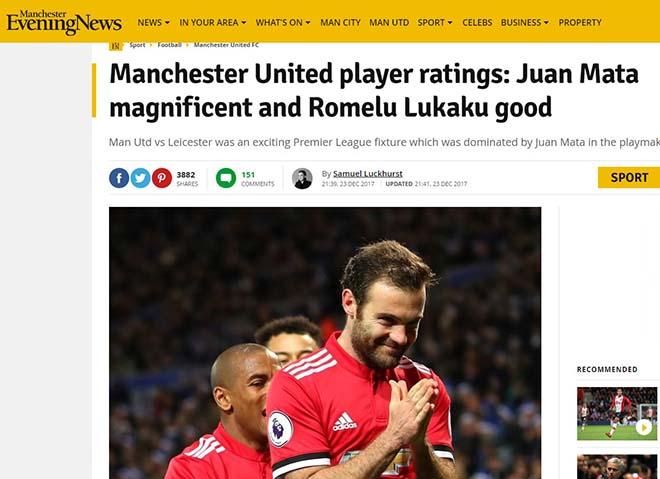 """MU mất điểm phút 94: Báo chí Anh thương Mourinho """"Giáng sinh khốn khổ"""" 6"""
