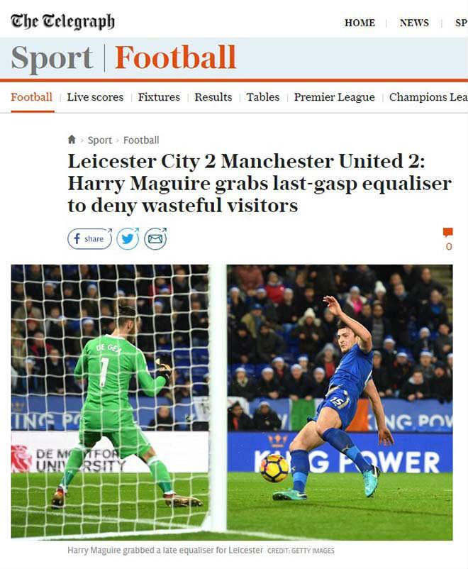 """MU mất điểm phút 94: Báo chí Anh thương Mourinho """"Giáng sinh khốn khổ"""" 7"""
