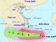Tin tức trong ngày - Bản tin bão 10h: Bão số 16 tiếp tục mạnh lên, giật cấp 15 hướng vào Nam Bộ