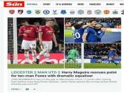 """Bóng đá - MU mất điểm phút 94: Báo chí Anh thương Mourinho """"Giáng sinh khốn khổ"""""""