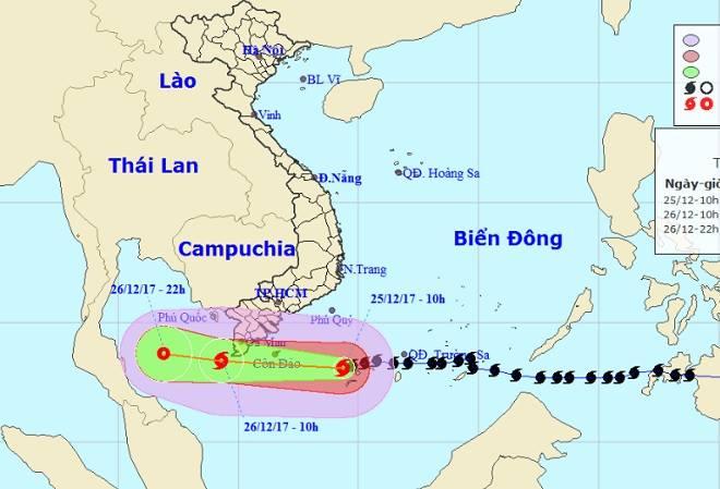 Toàn cảnh bão Tembin đe doạ Nam Bộ ngày 25/12 - 18
