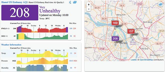 Sáng nay (25/12), không khí Hà Nội thuộc top ô nhiễm nhất Thế giới