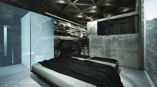 """Ngôi nhà nằm chìa ra ngoài vách đá khiến người xem không khỏi """"run rẩy"""" - 8"""
