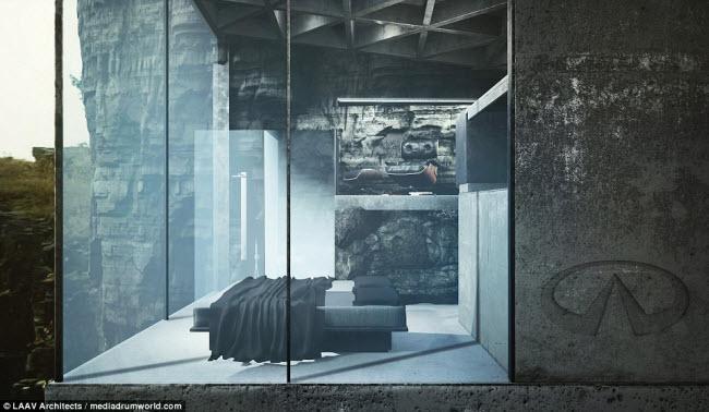 """Ngôi nhà nằm chìa ra ngoài vách đá khiến người xem không khỏi """"run rẩy"""" - 3"""