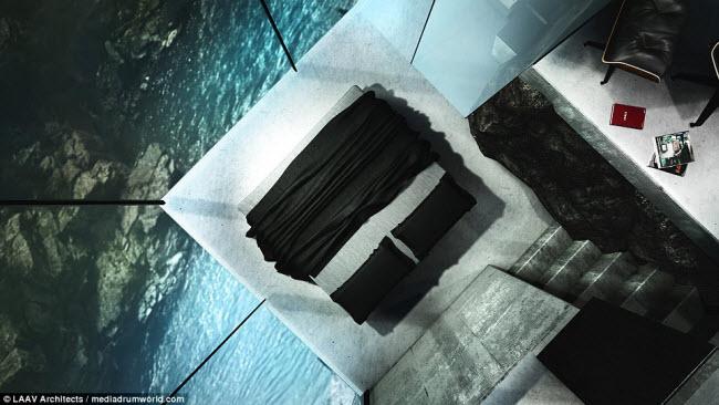 """Ngôi nhà nằm chìa ra ngoài vách đá khiến người xem không khỏi """"run rẩy"""" - 6"""