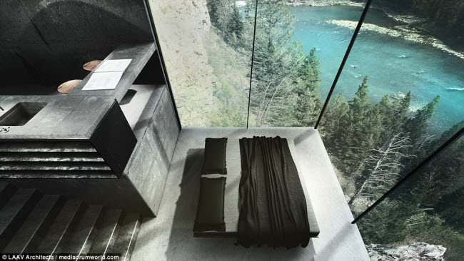 """Ngôi nhà nằm chìa ra ngoài vách đá khiến người xem không khỏi """"run rẩy"""" - 7"""