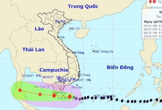 Toàn cảnh bão Tembin đe doạ Nam Bộ ngày 25/12 - 36