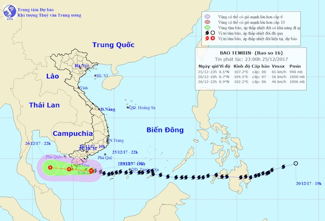 Toàn cảnh bão Tembin đe doạ Nam Bộ ngày 25/12 - 38