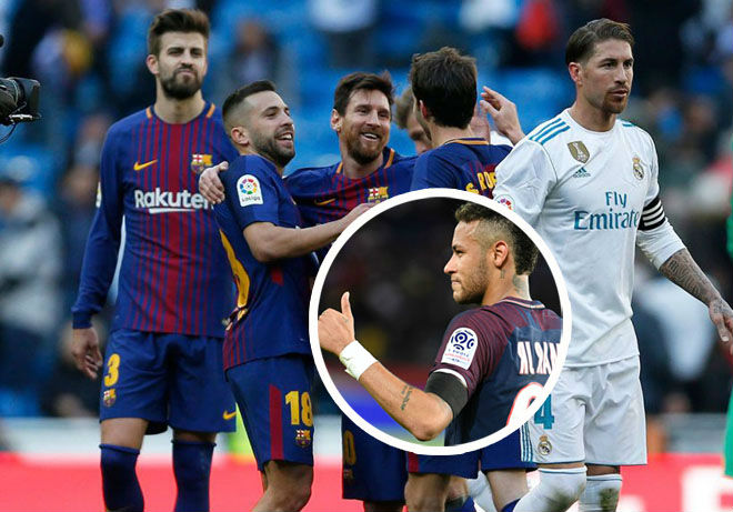 """Real thua thảm Barca: Nỗi lo Neymar """"chạy mất dép"""", siêu sao quay lưng"""